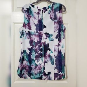 Collective Concepts Tops - Abstract print top